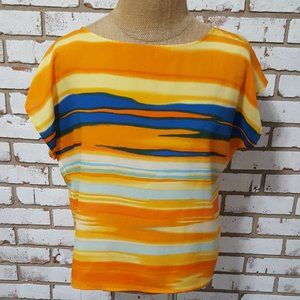 Antonio Melani Multi Color Stripe Blouse, Large